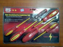 6pcs Insulated Screwdrivers - For electricians & comp technicians New