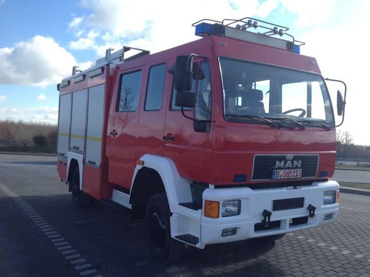 MAN HLF mit 4x4 Feuerwehr, Fire Truck, Fire Engine - 2000