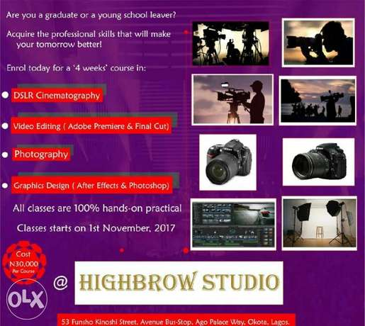Learn Cinematography, Video Editing etc Isolo - image 1
