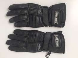 Leather Motorcycle Gloves (M)