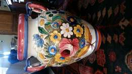Large ornate ceramic vase
