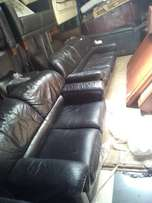 Black Original leather 5 seater