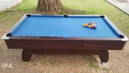 One month used snooker table with balls and 2 sticks