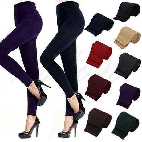 Free Shipping Women Winter Warm Slim Stretch Footless Leggings Thick S River Club - image 1