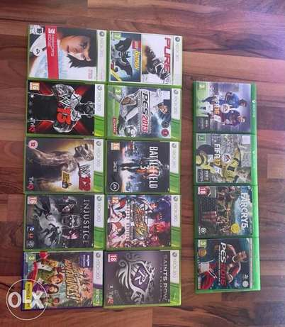 Xbox 360 and Xbox 1 games contact for price