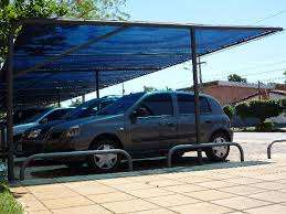 Blue car stretch tents