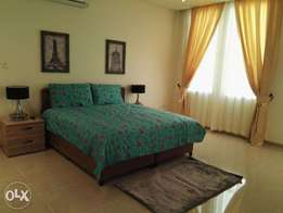 6 bedroom fully furnished townhouse villa in Azaiba beach for rent.