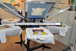 New 4 color 4 station Manual T-shirt Screen Printing Machine