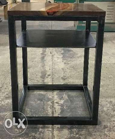 [ Contemporary heavy industrial steel - coffee table ]