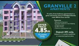 2 bedroom Apartments for sale THINDIGUA KIAMBU