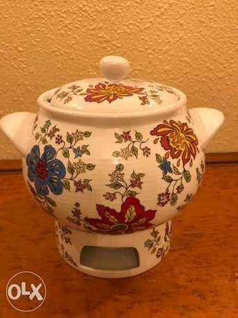 Décoratives Soup Pot with candle warmer