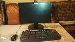 20 inch monitor with free mouse keyboard and webcam.
