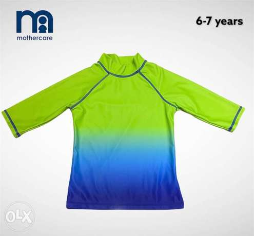Mothercare Swimming Top UPF 50+ sun protection 6-7 years