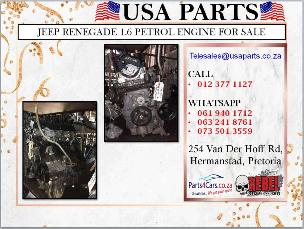 Jeep Renegade 1 6 Petrol Engine For Sale Car Parts Accessories 1064369076