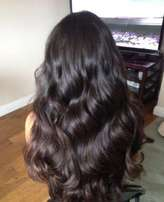 Treat your self with real hair Brazilian and Peruvian.