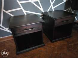 Solid wood bedside drawers