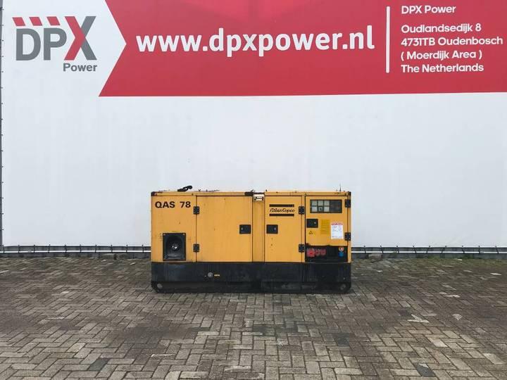Atlas Copco QAS78 - 78 kVA Generator - DPX-11906 - 2001