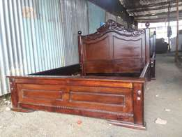 5 by 6 hardwood bed