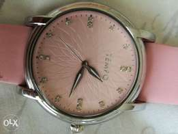 Tempo - ladies pink leather strap - still new