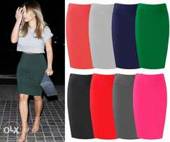 Sexy Plain Bodycon Skirts