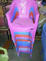Swings, benches, plastic chairs and tables on sale