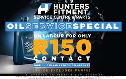 Hunters Fitment Oil Service Special R150