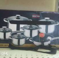 12 piece stainless steel induction cooking pot