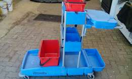 Industrial cleaning trolleys