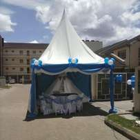 Tent decoration,Tables,tents,chairs and deco for hire