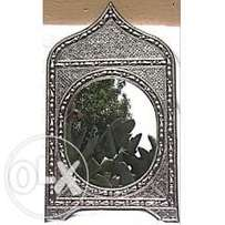 Handmade Moroccan Imported Detailed Moroccan door design Metal mirror