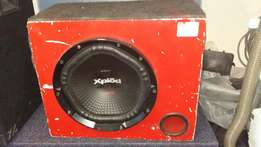 Subwoofer plus box Sony xplod 1800w