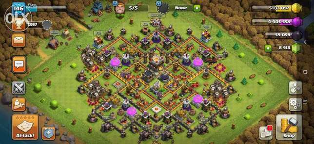 2 Gmail clash of clans and clash royale for sell