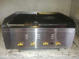 Stainlesssteel Industrial griller and flat grill to perfection