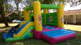 Tents decor,mascot castles,trampolines,kid's 2in1 bouncing castle hire