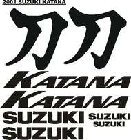 Katana mototcycle decals sticker graphic kits - All model designs