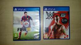 PS4 Fifa15 & WWW2K15 available at R200 each or R350-00 for both