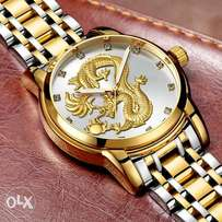 relogio masculino Genuine GUANQIN Mens Watches Top Brand Luxury Gold