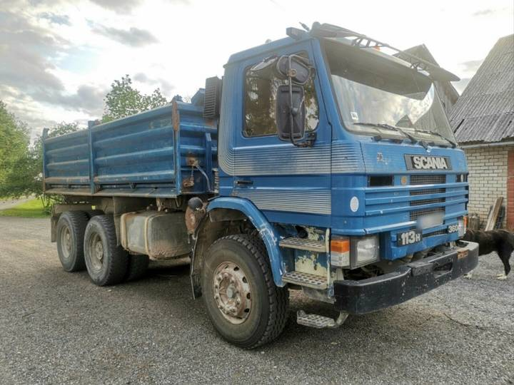 Scania 113 360.320 Meiller 3 sides Manual6x4.full steel