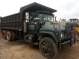 Clean foreign used R-model Mack tipping truck