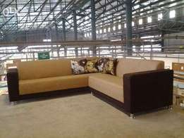 Corner 6 seat sofa custom made direct from factory