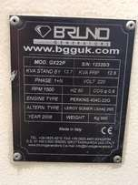 Second-Hand silent 15kva Bruno single phase generator 32amp