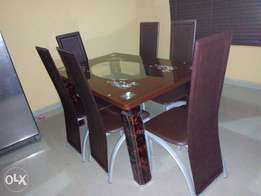 Durable Brown Six-Seater Dining 0021