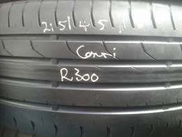215/45/16 Second hand tyres