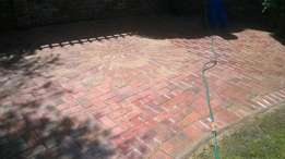 Paving and landscaping .