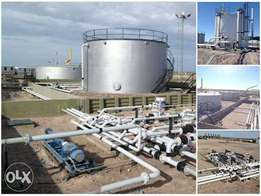 NEWLY BUILT TANK FARM 4 SALE - WARRI: 4 tanks with 15 million caps eac