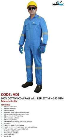CodE: ADi, 100 % coTtoN cOvErAll WIth ReFlecTIvES, 240gsM