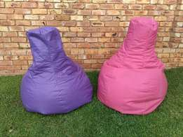 Pink and Purple Beanbags