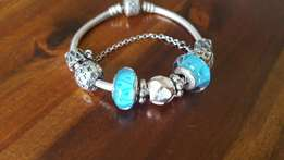Silver Pandora Bracelet with Charms