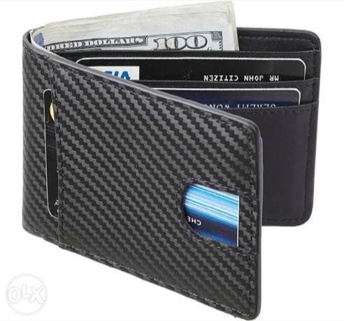 2019 New Years Collection High Quality Leather Carbon Fiber Wallet