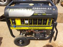 Clean Foreign Used (FIRMAN FPG8800e2) 15hp, 6.5Kva petrol gen.